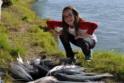 red salmon Kenai River bank fishing
